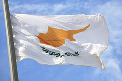 塞浦路斯的旗子 库存图片
