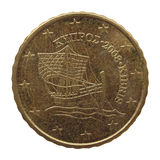 从塞浦路斯的欧洲硬币 免版税库存照片