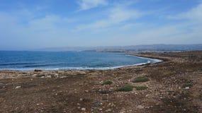 塞浦路斯的沿海 免版税库存图片