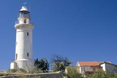 塞浦路斯的灯塔 免版税库存照片