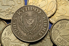 塞浦路斯的硬币 库存图片
