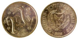 塞浦路斯的老硬币 免版税图库摄影