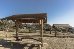 塞浦路斯的野餐地方 免版税库存照片