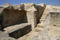 塞浦路斯破坏坟茔 免版税库存照片