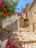 塞浦路斯老村庄街道  库存图片