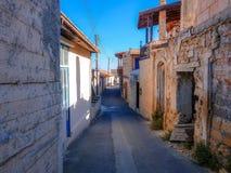 塞浦路斯老村庄街道  库存照片