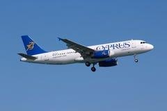 塞浦路斯航空 免版税库存照片