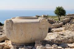 塞浦路斯花瓶在Amathus 库存图片
