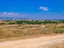 塞浦路斯风景在一个明亮的晴天 库存照片