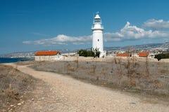 塞浦路斯,帕福斯灯塔 免版税库存照片