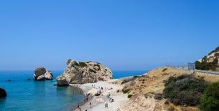 塞浦路斯2011年 岩石美之女神1 免版税库存照片