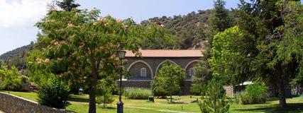 塞浦路斯 Kikkos修道院全景  图库摄影