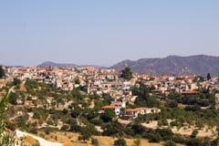 塞浦路斯 Lefkara山村的看法  库存图片