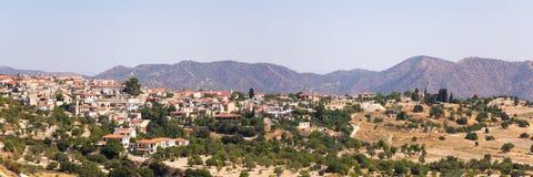塞浦路斯 Lefkara山村的看法  库存照片