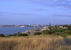 塞瓦斯托波尔市海岸  免版税库存照片