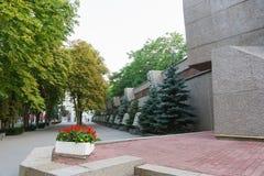 塞瓦斯托波尔英勇防御名望纪念品步行1941-1942的在第二次世界大战期间 免版税库存图片