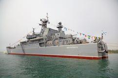塞瓦斯托波尔,乌克兰--5月12日:大登陆艇'新切尔卡斯特 免版税图库摄影