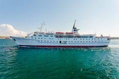 塞瓦斯托波尔,乌克兰- 8月24 船艾德里安娜 库存照片