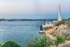 塞瓦斯托波尔,克里米亚风景沿海岸区  免版税库存照片
