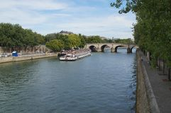 塞纳河在巴黎-法国-欧洲 库存图片