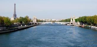 塞纳河看法在巴黎 库存照片