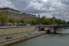 塞纳河,巴黎的看法 免版税图库摄影