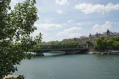 塞纳河-巴黎,法国 免版税库存图片