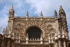 塞维利亚大教堂哥特式建筑 库存照片