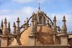 塞维利亚大教堂圆顶 库存图片