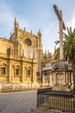 塞维利亚大教堂-西班牙门户  库存照片
