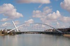 塞维利亚桥梁 库存图片