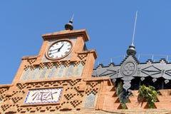 塞维利亚老火车站在Plaza de Armas 免版税库存照片