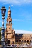 塞维利亚西班牙广场 库存图片