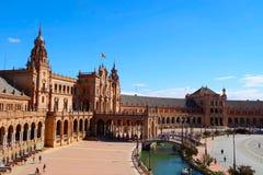 塞维利亚西班牙广场 免版税库存图片