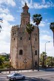 塞维利亚,安大路西亚,西班牙- Torre del Oro 库存照片