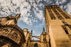 塞维利亚,安大路西亚/西班牙- 2017年10月13日:塞维利亚大教堂  免版税库存照片