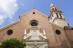 塞维利亚,西班牙的历史建筑和纪念碑 西班牙建筑风格哥特式和Mudejar,巴洛克式 库存照片