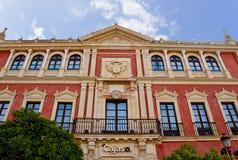塞维利亚,西班牙的历史建筑和纪念碑 西班牙语 de弗朗西斯科广场圣 库存图片