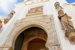 塞维利亚,西班牙的历史建筑和纪念碑 Catedral de圣玛丽亚de la塞德 图库摄影