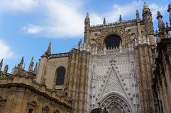 塞维利亚,西班牙的历史建筑和纪念碑 Catedral de圣玛丽亚de la塞德 库存照片