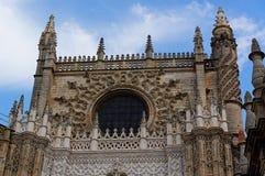 塞维利亚,西班牙的历史建筑和纪念碑 Catedral de圣玛丽亚de la塞德 免版税图库摄影