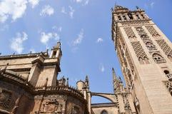 塞维利亚,西班牙的历史建筑和纪念碑 Catedral de圣玛丽亚de la塞德 免版税库存图片