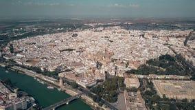 塞维利亚,西班牙空中射击  免版税库存图片