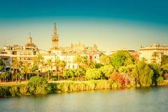 塞维利亚,西班牙都市风景 图库摄影