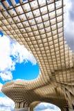 塞维利亚-西班牙:Metropol遮阳伞在广场恩卡纳西翁,安大路西亚省 库存照片