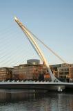 塞缪尔Beckett桥梁,都伯林-爱尔兰 免版税库存照片