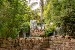塞罗圣伯纳德小山瀑布喷泉-萨尔塔,阿根廷 免版税库存图片