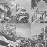 塞罗圣安娜瓜亚基尔照片集合 免版税库存照片