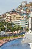 塞罗圣安娜,城市地标看法  库存图片
