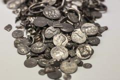 塞罗科罗拉多,在古西班牙做的最旧的硬币囤积居奇, Malag 库存图片